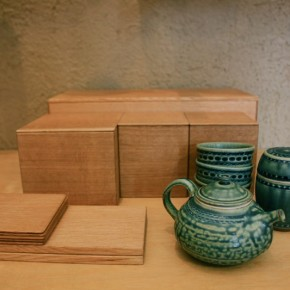 茶箱、増渕篤宥さんの器に合せて。