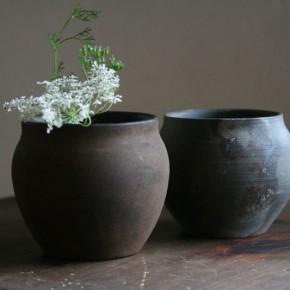 陶胎漆器の小壷