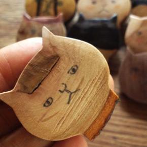 サノさんの猫ブローチ作り